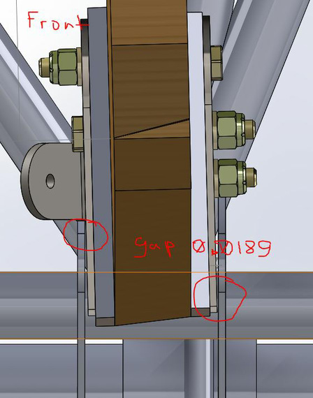 Gap that shows up when fittings are vertical, and hole is at an angle.
