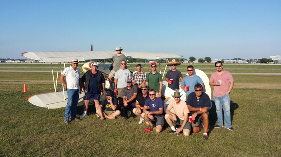 Oshkosh 2015 Biplane Forum Beer'o'Clock crowd