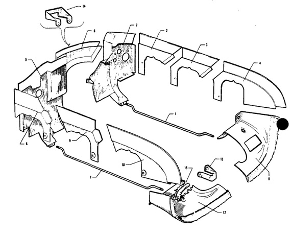 Comanche parts manual on baffles