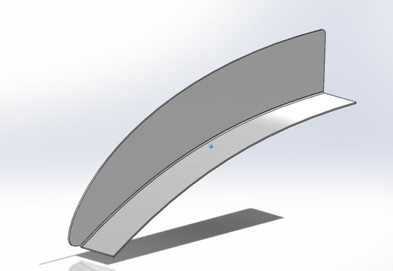 SolidWorks part for the Strobe Shield