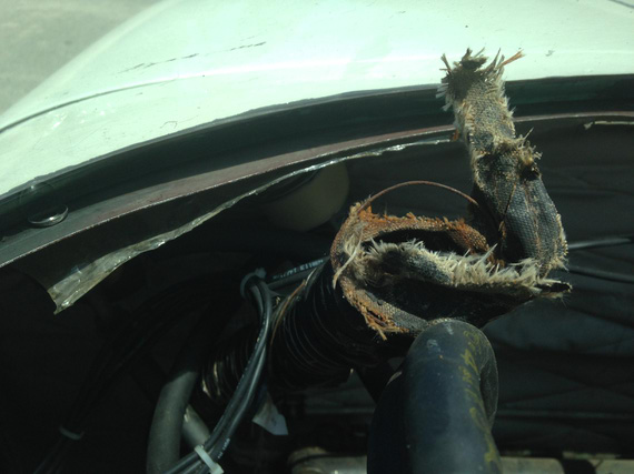 All dead defroster SCAT tubing