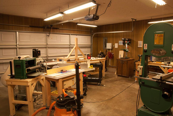 Air setup, router table, and The Bandsaw
