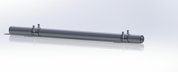 Very basic model of the Torque Tube (but all I need right now, minus the aileron arms)